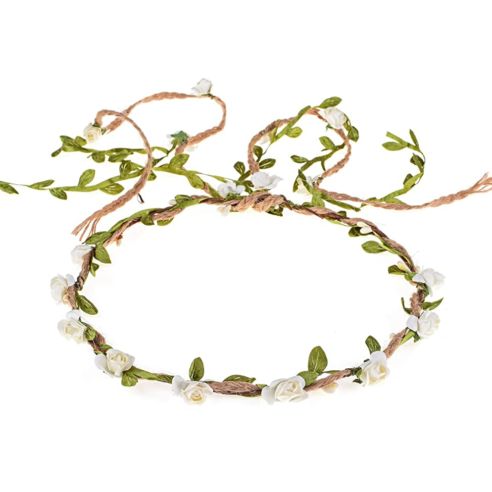 DDazzling Flower Crown Floral Wreath Headband Floral Garland Headbands photo props