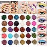 LuckyFine 30 Colori Glitter Ombretti per Occhi Trucchi Glitter Trousse Make Up Professionali...