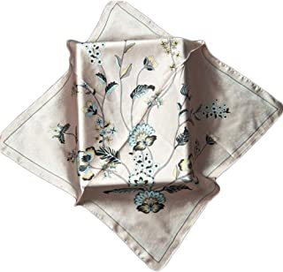 Happy-L New Ladies Scarf 70cm Small Square Towel Professional Decorative Scarf Sweet Bouquet Printing Scarf Outdoor Sunscreen Shawl (Color : 02)