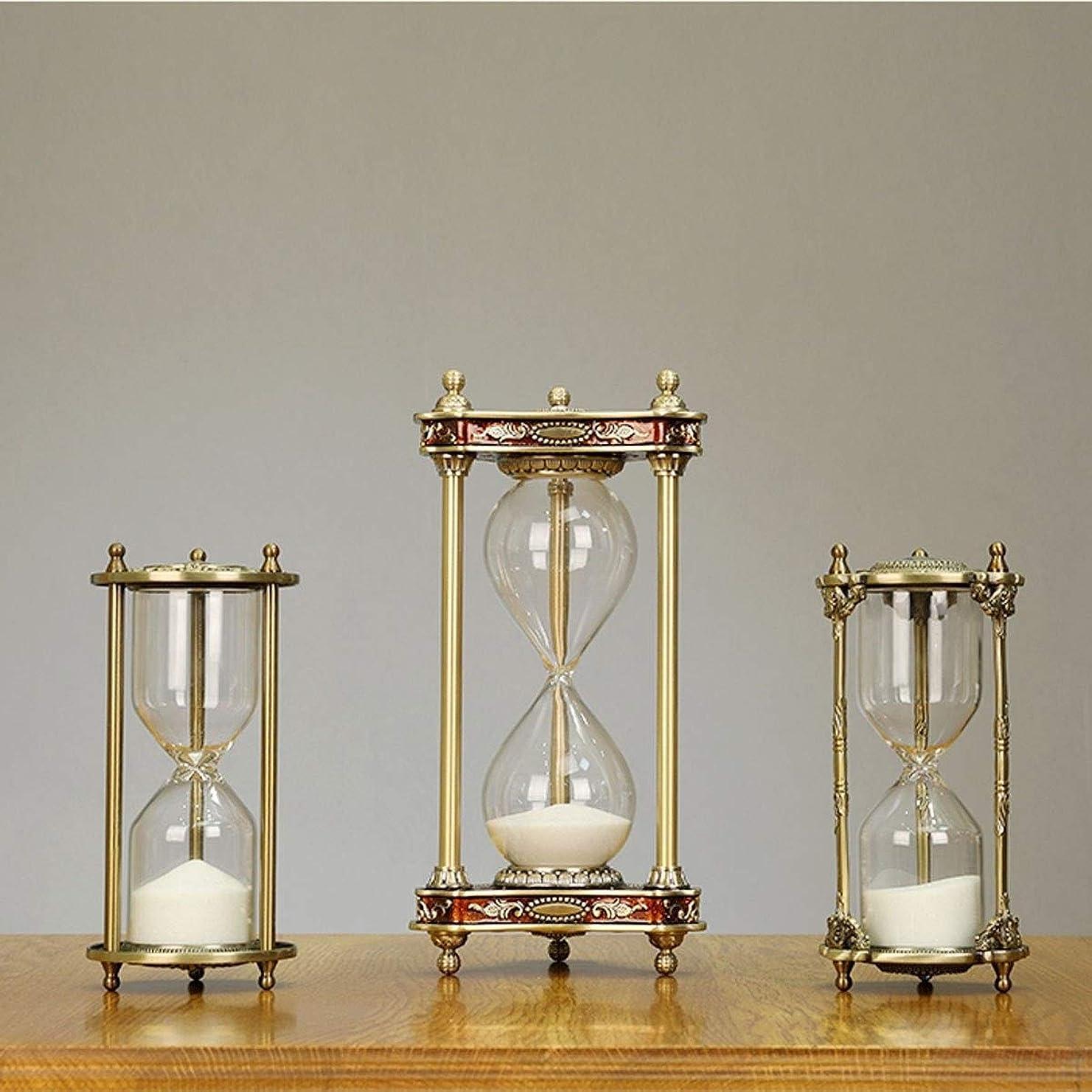 乞食不快な繁栄するJIAYIZS 30分(あなたが選択するため3つのスタイル、12 * 23.5センチメートル) ギフトについて砂時計、三角ボディデザイン 合金やガラス、大気外観で作られました、 (Color : Style2)