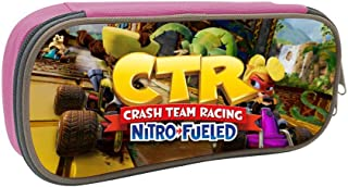 GSGSDG Crash Team Racing Nitro Fueled Go Kart Game Pencil Case for Kid Big Capacity Students Pencil Holder for School Home Office Supplies