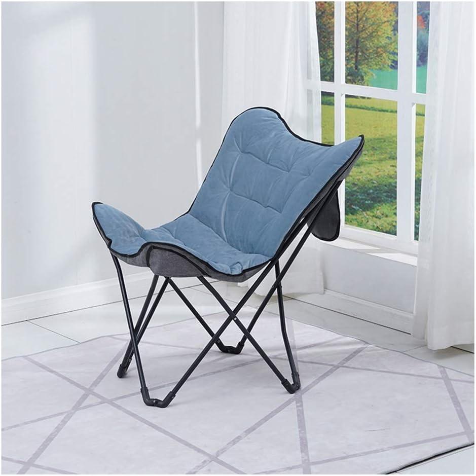 Folding Chairs YAN YUN [Alternative dealer] Flannel latest Steel Simple Tube Lazy Stor Chair