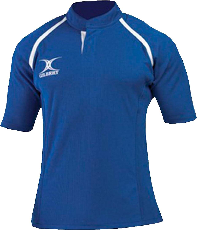 Gilbert Rugby Sports Team Training Wear Short Sleeve Xact II Monochrome Shirt