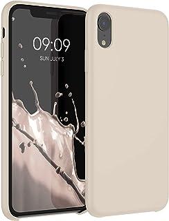 kwmobile telefoonhoesje compatibel met Apple iPhone XR - Hoesje met siliconen coating - Smartphone case in parelmoer