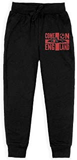 Yuanmeiju England Football Fan Boys Pantalones Deportivos,Pantalones Deportivos for Teens Boys Girls