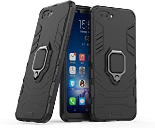 YEESOON Oppo A3s / Oppo A5 (AX5) Case, Dual Layer Hybrid Shockproof Protective Case with Ring Stand & Magnetic Car Mount F...