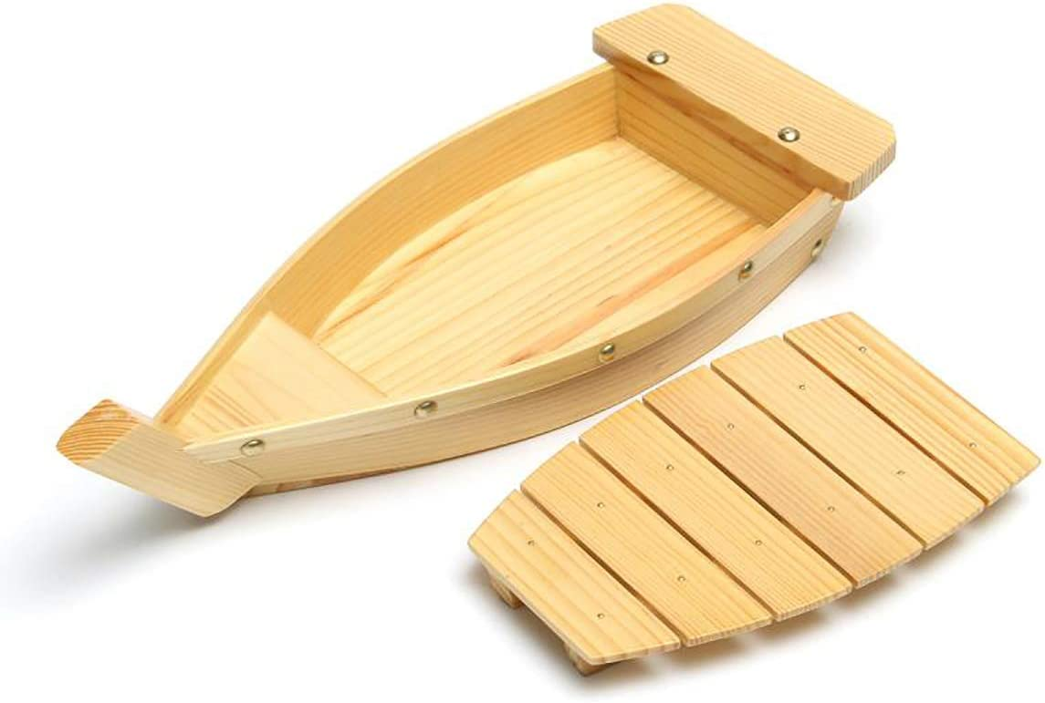 HIUHIU Challenge the lowest price of Raleigh Mall Japan 42X17X7.5Cm Japanese Cuisine Tools Sushi Boat Wood