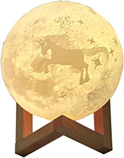 Lawnite 3D Print Moon Lamp, USB Rechargeable Night Light, 16 LED Colors 5.9