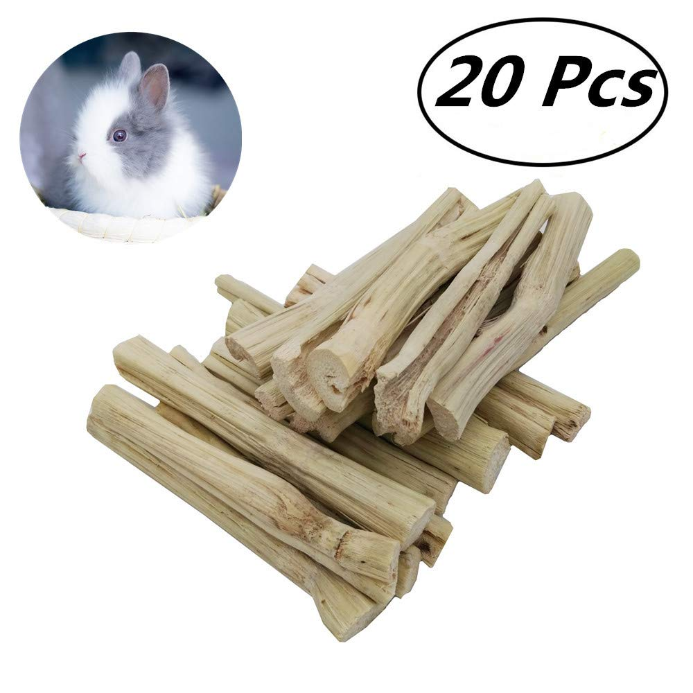 Guinea Pigs and Other Small Animals 20 pcs Chinchilla Niteangel Natural Bamboo Chew Toys for Rabbits