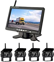$146 » Hodozzy Wireless Backup Camera with 7 Inch LCD Monitor & 120° Wide Angle Reversing Camera, IP67 Waterproof, 18IR Night Vis...