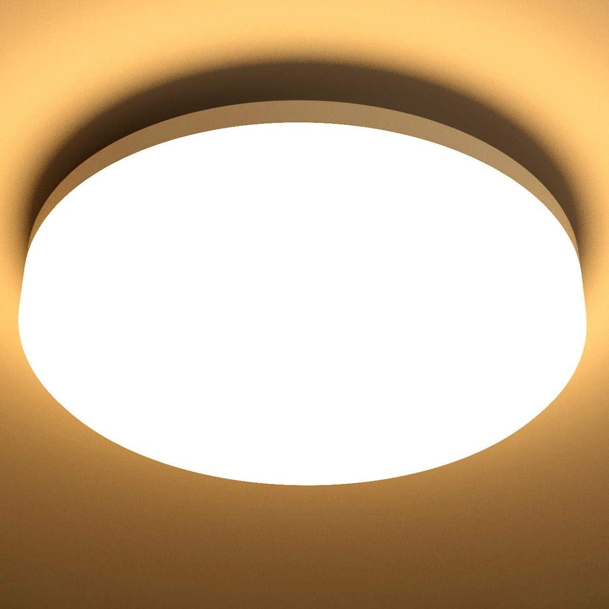 Lighting EVER 15W Deckenlampe, IP54 Wasserfest Badlampe, 3000K LED Deckenleuchte, 1250lm Lampen ideal für Badezimmer Balkon Flur Küche Wohnzimmer,...