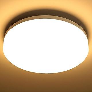 LE 15W Lámpara LED de Techo Blanco Cálido Impermeable IP54 1250LM 3000K Equivalente a 100W Lámpara Incandescente para Cocina, Balcón, Pasillo, Baño