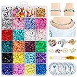 Joyhoop Bolitas para Hacer Pulseras, 4304 PCS Cuentas de Colores 2mm Mini Abalorios para Hacer Collares para DIY Bolitas para Hacer Collares.(24 Colores)