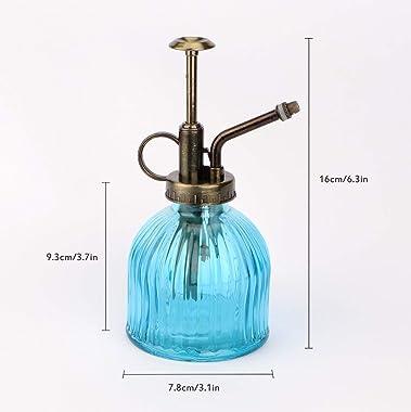 Yebeauty Glass Spray Bottle Plant Mister 2 Pack, 200ML Watering Spray Mister for Plants Vintage Style Decorative Sprayer Bott