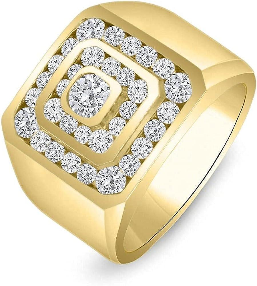 KSHITIJ JEWELS 14K Bargain sale Yellow Gold Over 5 ☆ very popular Men's 925 Silver 2. Sterling