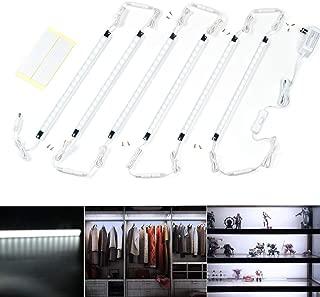 Led Light Strips Kit, (6) 12'' Linkable Light Bars + Rocker Switch + UL Power Adapter, Under Cabinet Lighting, Gun Safe, Locker, Closet, Shelf, Showcase Lighting, 6000K Cool White