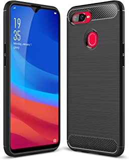 for Oppo F3 F7 F9 PRO Case Ultra Slim Shock Resistant Carbon Fiber Wire Drawing Thin Soft TPU Protective Cover
