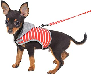 BVAGSS Soft Puppy Vest Harness Chest Strap Leash Set for Small Medium Cat Dog JA004 (XS, Orange)