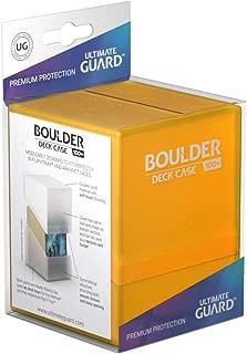 Ultimate Guard ugd010690–Boulder Deck Case, 100Plus, tamaño estándar, Ámbar