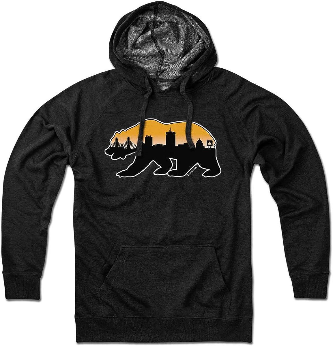 Rare Boston Bear Hoodie Skyline Excellence