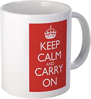 CafePress Large Mug Double Red Keep Calm And Carry On Mugs Unique Coffee Mug, Coffee Cup