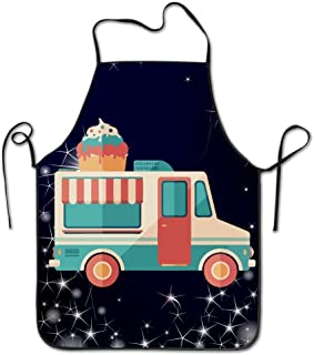 Ice Cream Van Chef Kitchen Cooking And Baking Bib Apron by YUANDAN
