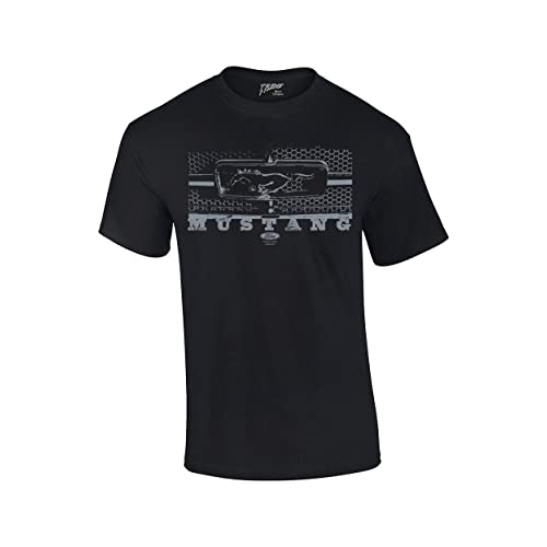 abec1cb7f Ford T-Shirt Mustang Grill Legend Honeycomb Grill and Emblem