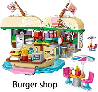 LOZ Mini Building Blocks Building Puzzles Street Toys for Kids&Adults Street Seriers in Shopping Building 3D Puzzles DIY Intelligence Educational Toys Games Models Kits Gifts(Burger Shop 1730)