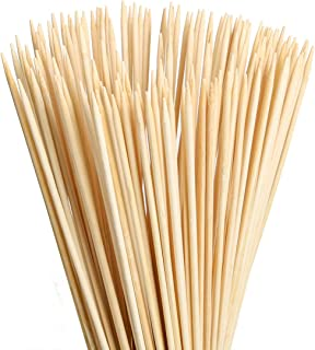 FLYPARTY Bamboo Marshmallow Roasting Sticks with 30 Inch 5mm Thick Extra Long Heavy Duty Wooden Skewers,Roaster Barbecue S'Mores Skewers Hot Dog Forks for Camping,Party,Kebab Sausage (100 Pieces)