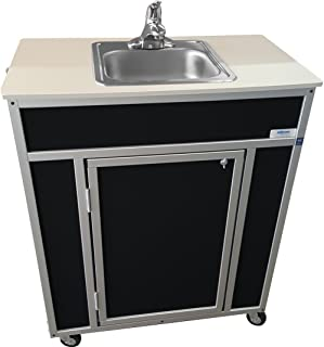 Monsam NS-009S NSF Certified Single Basin Self Contained Portable Sink, Black