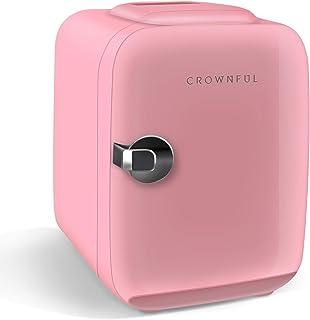 CROWNFUL Mini nevera, 4 litros/6 latas portátil refrigerado