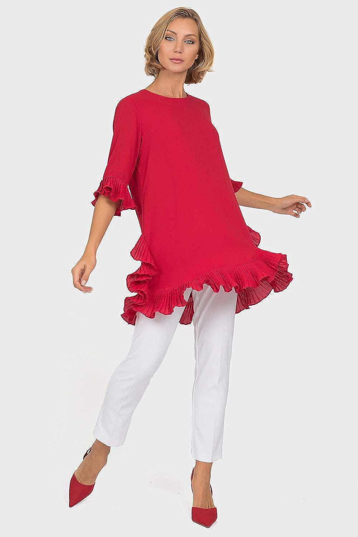 Joseph Ribkoff Red Tunic Style 191239