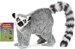 Melissa & Doug Wildlife Plush with Sticker Book (Lemur)