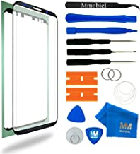 MMOBIEL Front Glass Replacement Compatible with Samsung Galaxy S8 G950 5.8 Inch (Black) Display incl Tool Kit