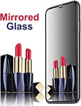 """[2 Pack] Mirror Screen Protector for iPhone XR, AIKIN iPhone XR Mirror Screen Protector Tempered Glass Case Friendly HD 9H Hardness Anti-Scratch Full Coverage Mirrored Steel Film 6.1"""""""