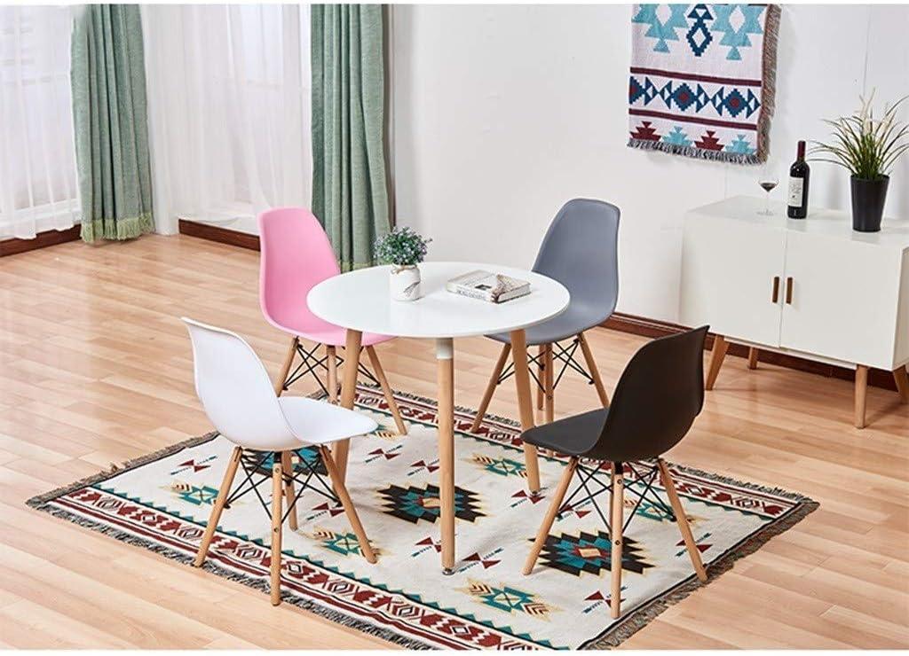 DJ Chaise Salle à Manger de Mode Minimaliste Moderne, Salon de Restaurant dortoir Chambre Bureau en Plastique PVC Brown