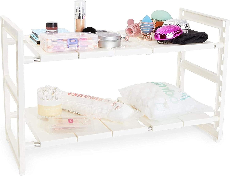 2 Tier Under Sink Organizer 24. Storage Cabinet Kitchen Super special price White Outlet SALE