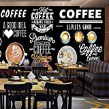 VGFGI Foto 3D pintada a mano cafetería restaurante occidental Bar herramientas de mejora del hogar póster mural de pared papel tapiz en pizarra-200cm(W) x100cm(H)