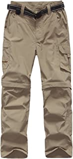 FLYGAGA Boy's Quick Dry Outdoor Convertible Trail Pants