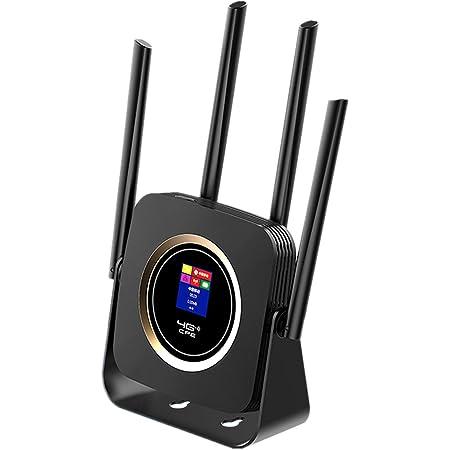 KuWFi Router Portatil 4G, Enrutador de Módem Inalámbrico 4G CPE WiFi SIM Router con Batería 3000Mah con Antena Externa