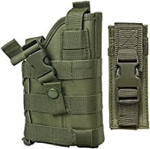 M1SURPLUS Green MOLLE Pistol Holster Free Tactical Pistol Magazine Carrier Pouch/The Holster Fits Glock 17 20 21 22 37 31 SIG P229 P226 P250 SP2022 Mosquito