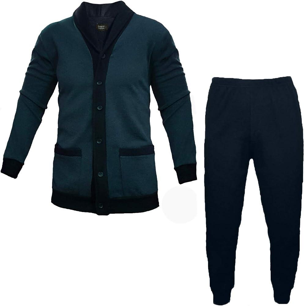 Enrico coveri,pigiama per uomo classico,coveri linea prestige ,50% cotone, 50% poliestere,taglia: xxl 5062