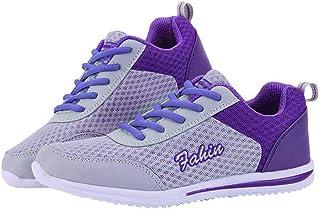 Memefood Zapatillas Deportivas Mujer, Calzado De Cordones Plano Zapato Deporte De Malla Transpirable Ligero En Suelas Cómo...
