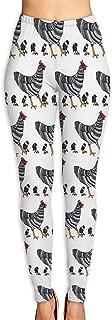 Women's Barred Rock Chickens Activewear High-Waist Tights Leggings Yoga Pants