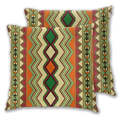 Lewiuzr Quadratische Kissenbezüge, Color Art Pattern 2er Pack Dekorative Kissenbezüge Kissenbezüge 55X55 cm