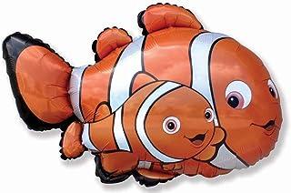 37 Inch Clown Fish Shaped Foil Balloon