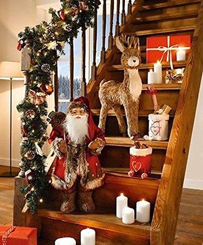 LD Natale decorazione figura decorativa grande Babbo Natale 60cm Babbo Natale Decorazioni Natalizie: Natale figura