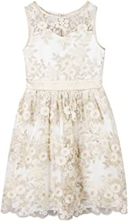 Girls' Big Pretty Party Dress with Sweetheart Bodice