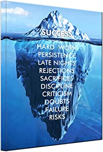 Office Positive Quotes Motto Success Inspirational Iceberg Motivational Wall Art Posters for Room Aesthetic Prints Artwork for Living Room Office Home Wall Decor Ready to Hang (Success Iceberg, 12x16inch)