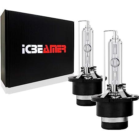 10000K Cool Deep Blue D2S D2R Xenon HID Direct Replacement Headlight Low Beam Bulbs